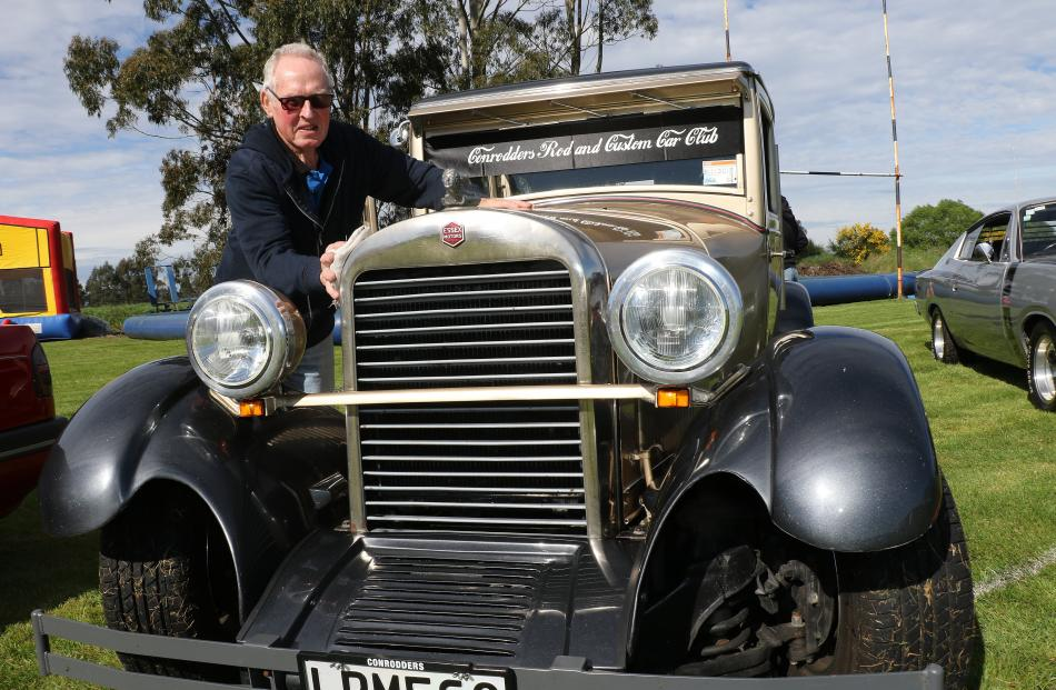 Garry Scott, of Mosgiel, was another first-timer at the Kai show. He brought along his 1927 Essex...