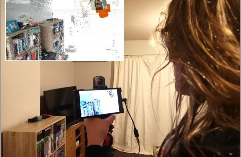 Dr Jacob Young has developed a more interactive video-calling device at the University of Otago....