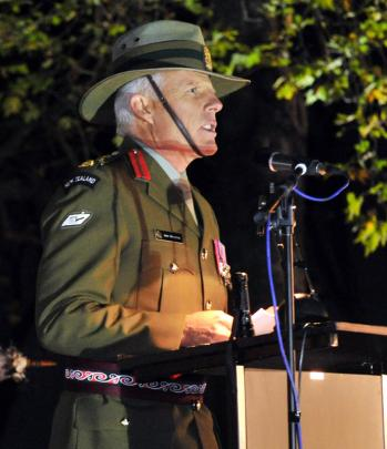 Brigadier Sean Trengrove, Director General of Reserve Forces and Youth Development speaks.