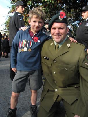 Wanaka teacher Paul Cartlidge's New Zealand Army Territorial Force uniform was the focus of much...