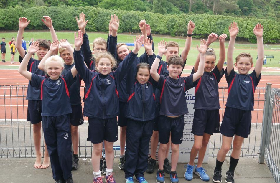 Grant's Braes School pupils have fun at the Otago primary schools athletics championship.
