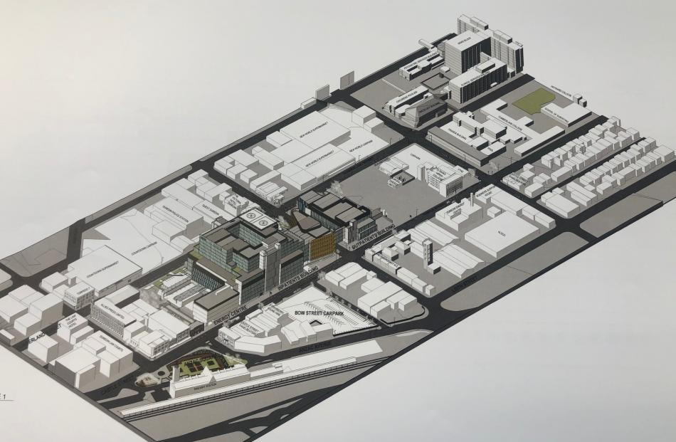 Aerial view of the new hospital's layout. Photo: suplied