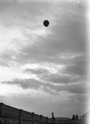 When the balloon got to 1000ft, Baldwin made the first parachute jump in New Zealand history,...