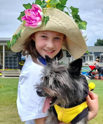 Twelve-year-old Raven got an outing with Danaka Hislop at the Rakaia School pet day. Raven is...