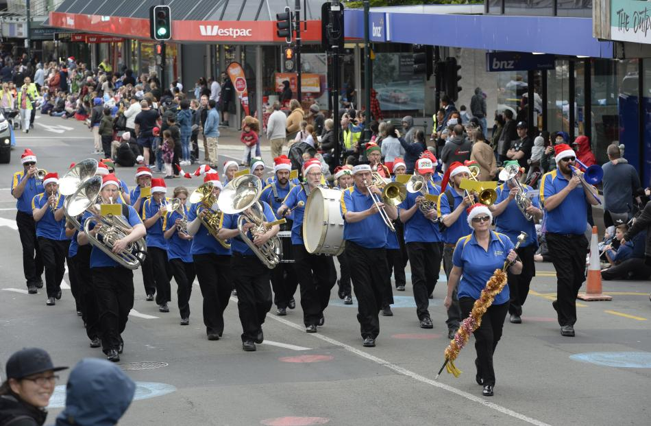 The Mosgiel Brass Band added to the festive atmosphere.