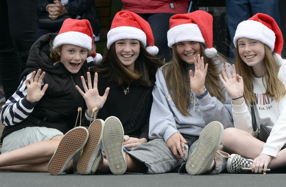 Jorja Gibbons (14), Tait Morton (14), Kaila Geeves (14) and Mackenzie Galvin (14) wait patiently...