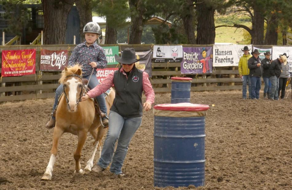 An unco-operative pony means Matilda Wrightman, of Lawrence, needs a little assistance in the...