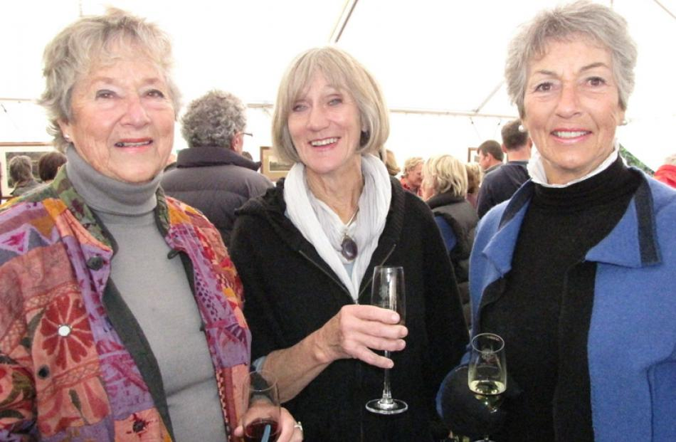 Devon Hotop, Dawn Wilson and Jo Barclay, all of Wanaka.