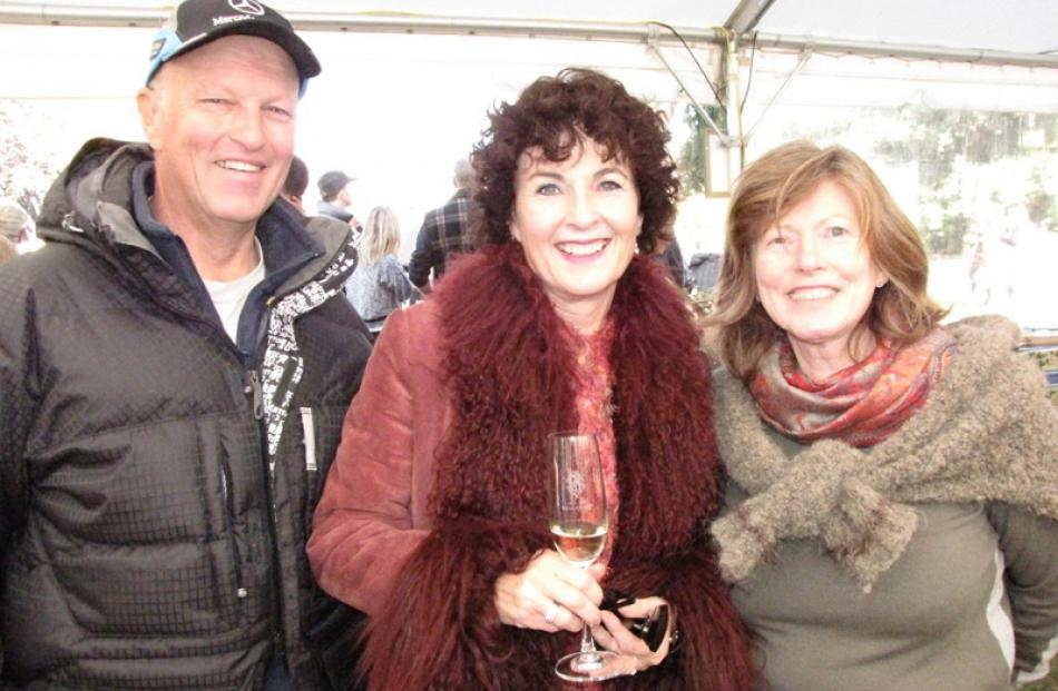 Peter King, Lauren Sleeman and Julie Scaife, all of Wanaka.