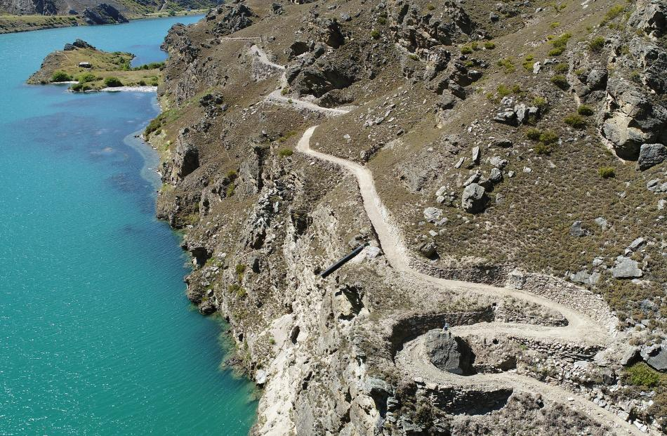 A switchback eases a steep climb on the trail.