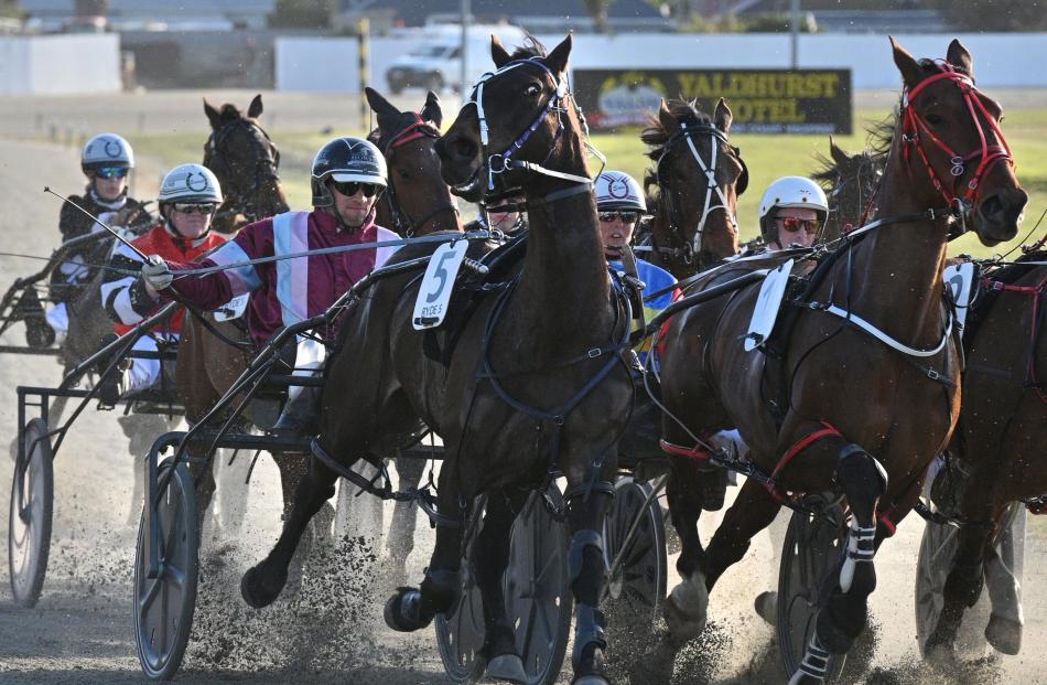 A dramatic image of race 4 at Forbury Park Raceway taken in October.
