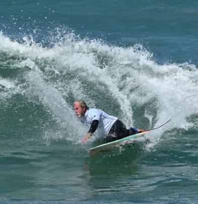 Surfing NZ Emerson's kneeboard surfing world titles were held at St Clair Beach, Dunedin, at the...