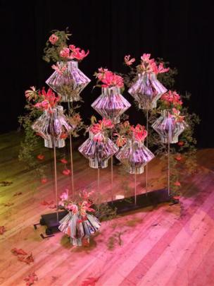 One of Francine Thomas' designs created during the floral art theatre in Balclutha on Friday(May...