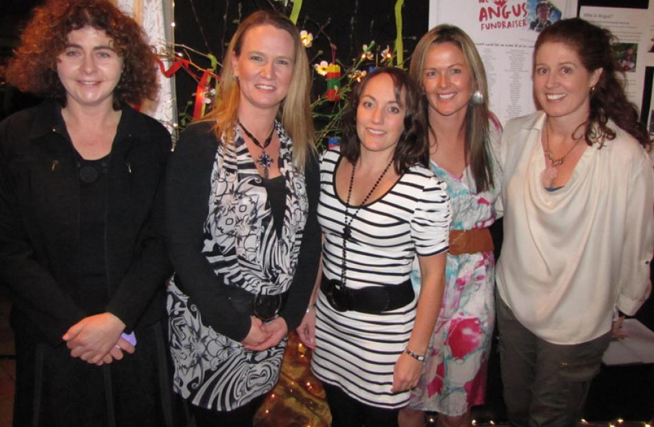 Lisa White, of Gibbston, Sarah Harris, of Arrowtown, and Vera Stewart, of Lake Hayes, with Toni...