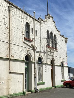 The early entrance to the Mosgiel Woollen Company is now the office of the industrial side of...