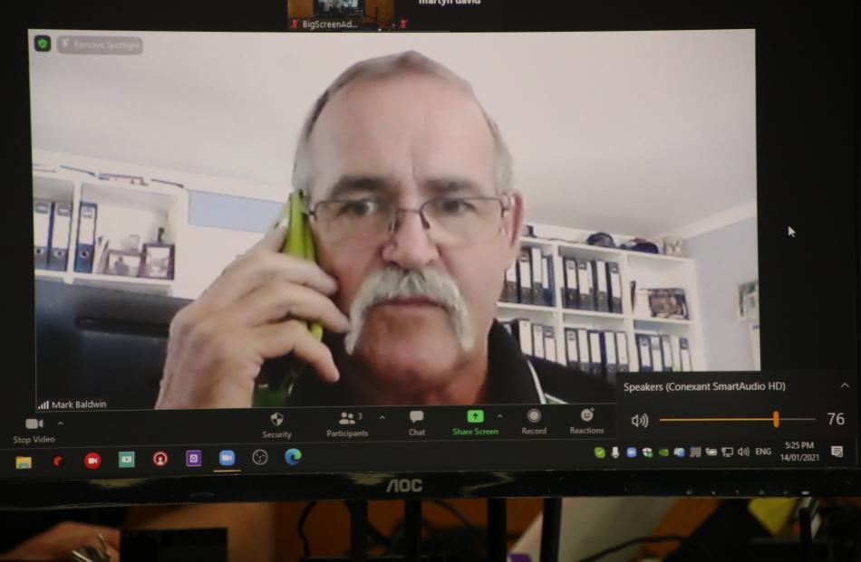 International shearing judge Mark Baldwin, of Brisbane, was connected via videolink and confirmed...