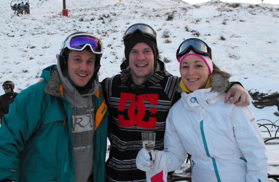 Lee Fairley, Edwin John and Diane McQuade, all of Queenstown.