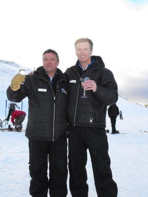 Coronet general manager Hamish McCrostie and NZSki Chief executive James Coddington.