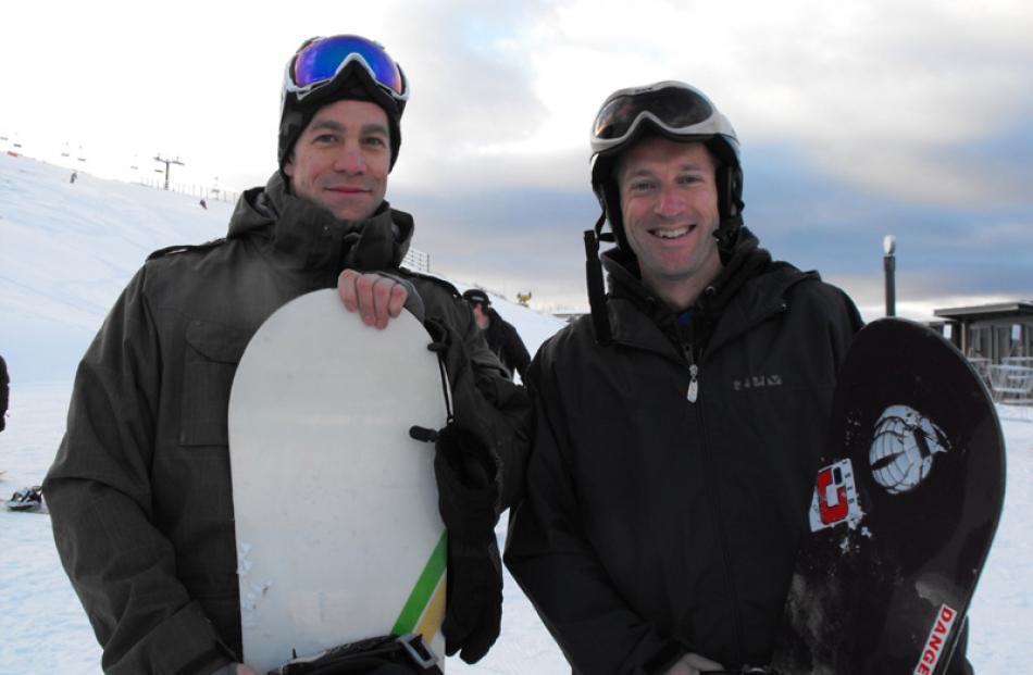 Graham McLellan and Pete Dodds of Queenstown.