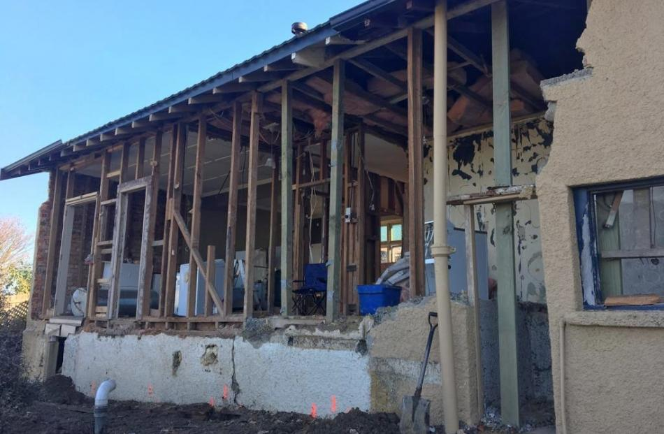 The back kitchen area was in such bad condition it had to be demolished.