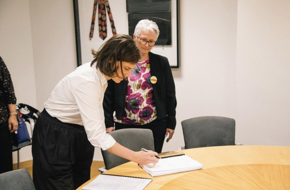 Green list MP  Chloe Swarbrick accepts  Corinda Taylor's petition.