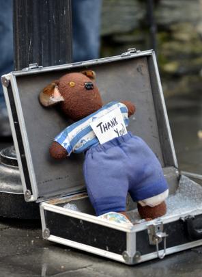 A busker's teddy.