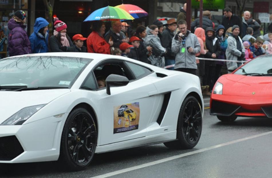 A brace of Lamborghinis in the parade.
