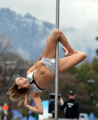 Pole dancer Stephanie Meyer, of Queenstown.