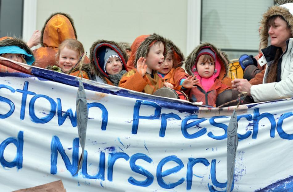 The Queenstown Preschool and Nursery float.