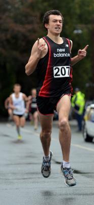 Winner of the Frontrunner Golden Mile, Daniel Balchin of Christchurch.