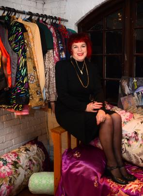 Debbie Gilhooley in her Flamingo Love space at Raspberry Beret boutique.