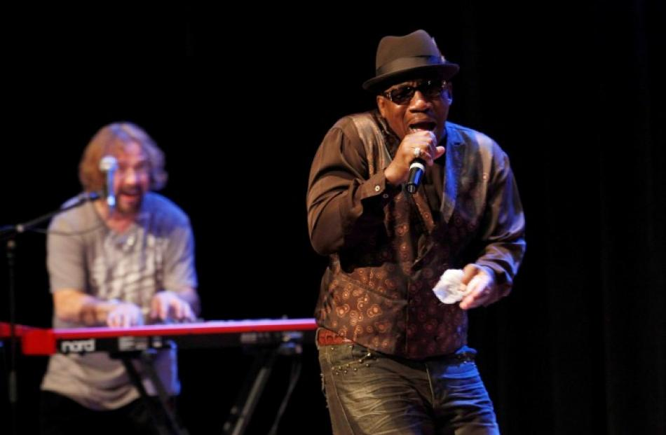 US musician John Lee Hooker Junior, son of late blues legend John Lee Hooker, performs during his...