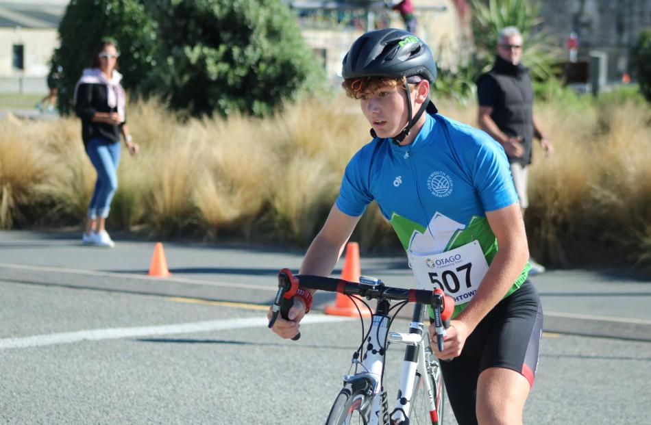 Greymouth's Callum Brown travelled the furthest to compete in yesterday's event.
