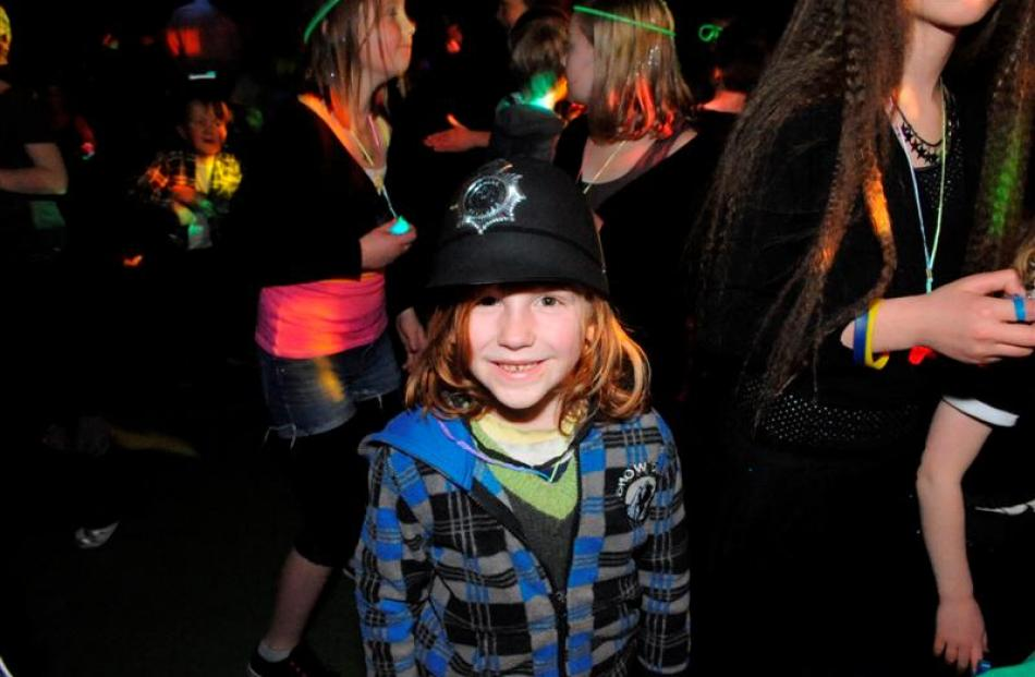 Star Richems (6) gets into the spirit of the  disco last night.