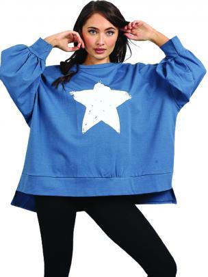 Italian made Star Sweat Shirt, $119, Luma