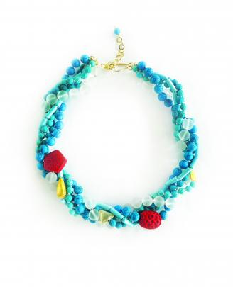 Blue Twist Necklace, $525, Joanna Salmond Jewellery.