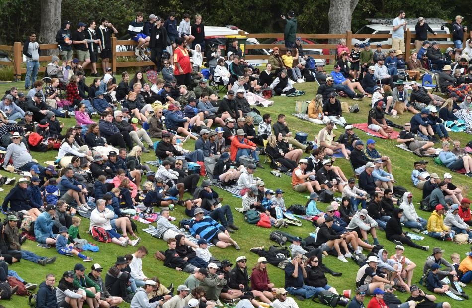 A sizeable crowd — 5475 — turned out for a day of international cricket at the University Oval.
