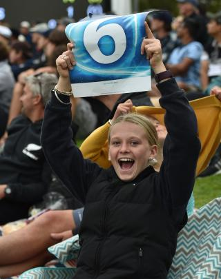 Cheering on her team is Lucy McHutchon (14), of Heriot.