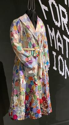 A patchwork dressing gown.