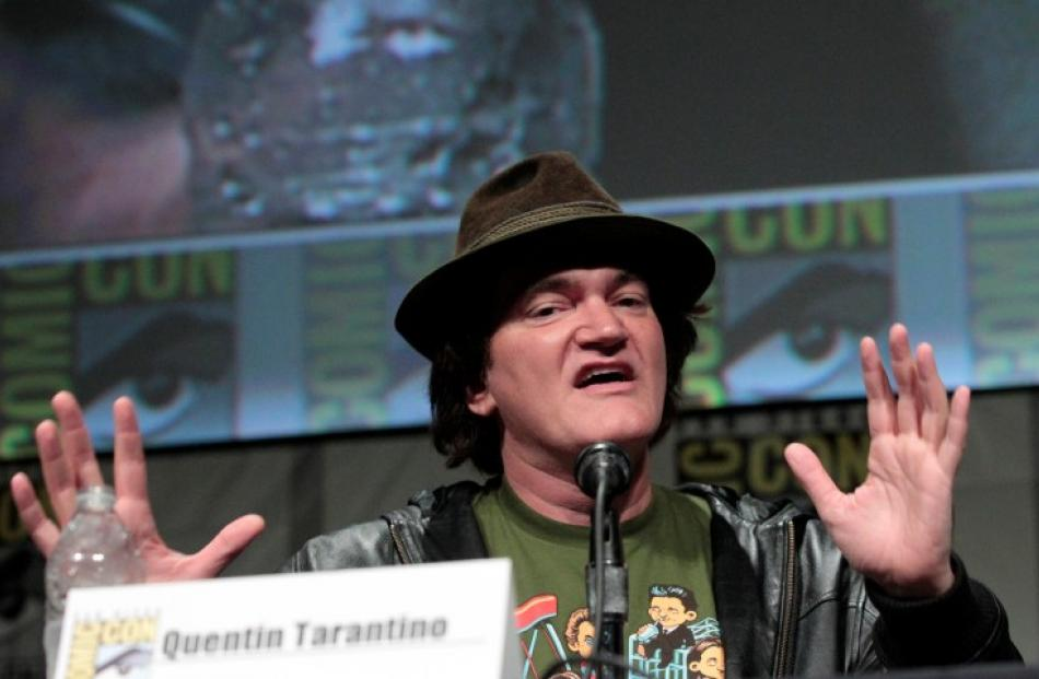 Director Quentin Tarantino speaks during a panel for 'Django Unchained' during Comic Con...