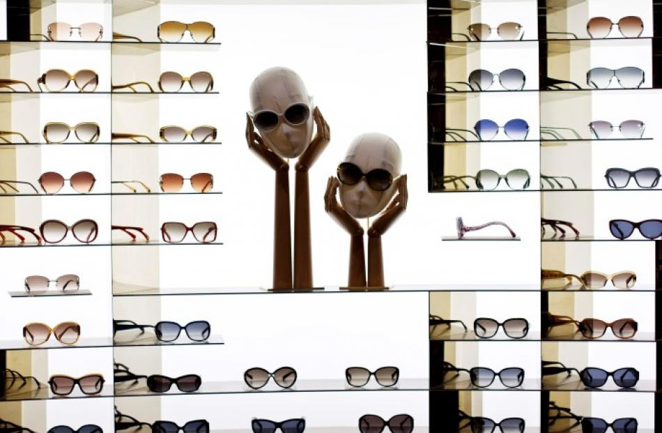 Louis Vuitton sunglasses are seen at the largest Louis Vuitton store in China, in Shanghai....