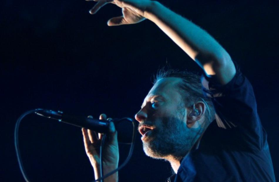 Thom Yorke of British band Radiohead performs at the Optimus Alive Festival in Alges, on the...