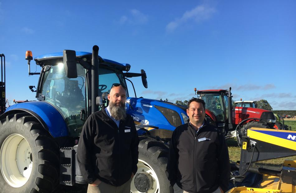 Norwood North Canterbury sales representative Michael Crew (left) and sales manager James...