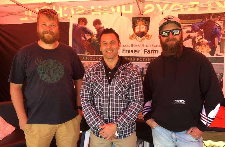 Will Fisher (left), of Oamaru, who works for the North Otago Irrigation Company, and farmer Scott...