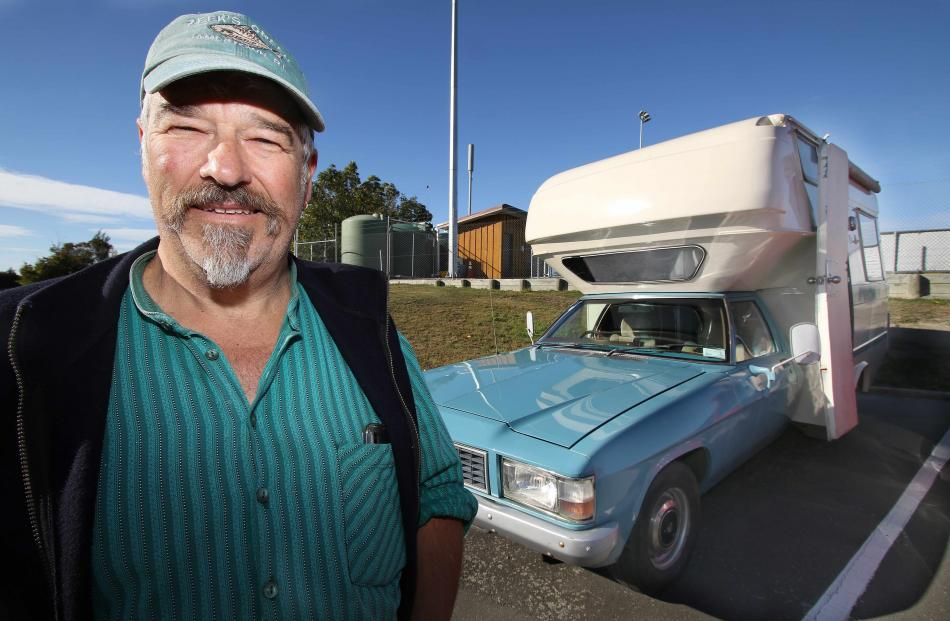 Port Otago worker Chris Reid and wife Monika travelled from Dunedin to attend their first Holden...