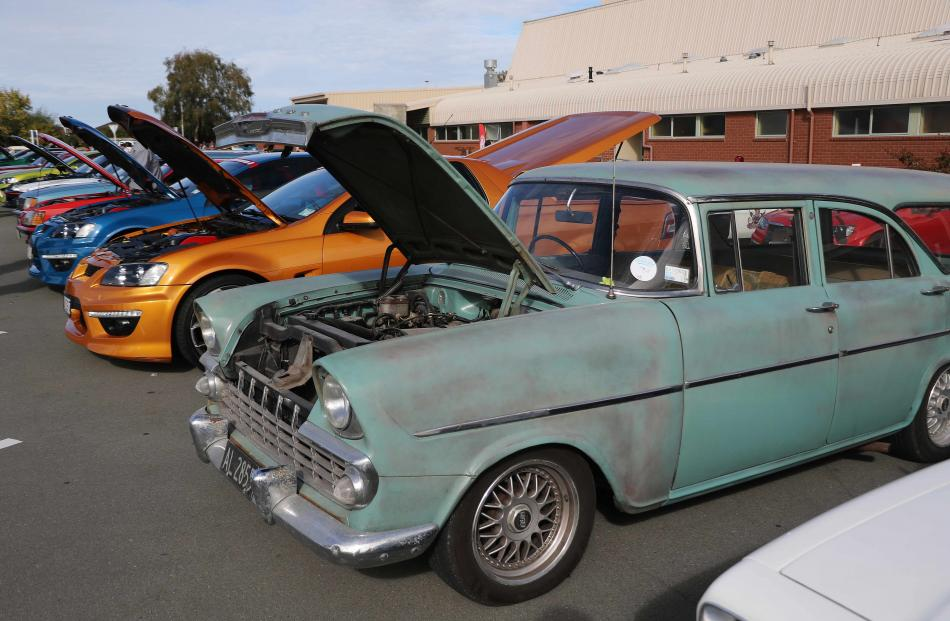 Holdens ranging from old models to the last production models were on show in Timaru.