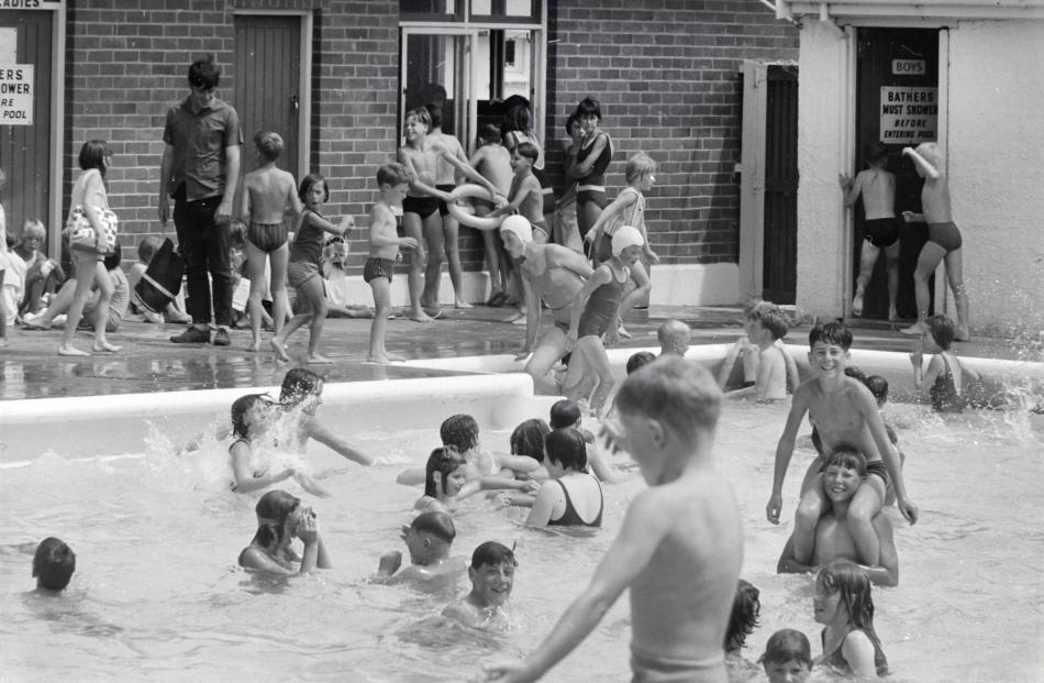 Swimmers enjoy the Mosgiel pool in the summer of 1969. PHOTO: EVENING STAR