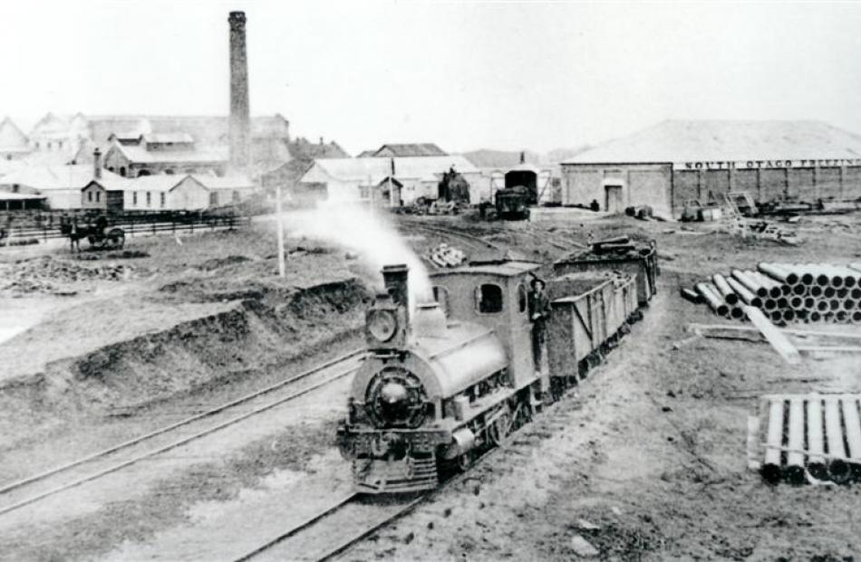 A train delivering stock for slaughter to the Balclutha works which is celebrating its 100th year...