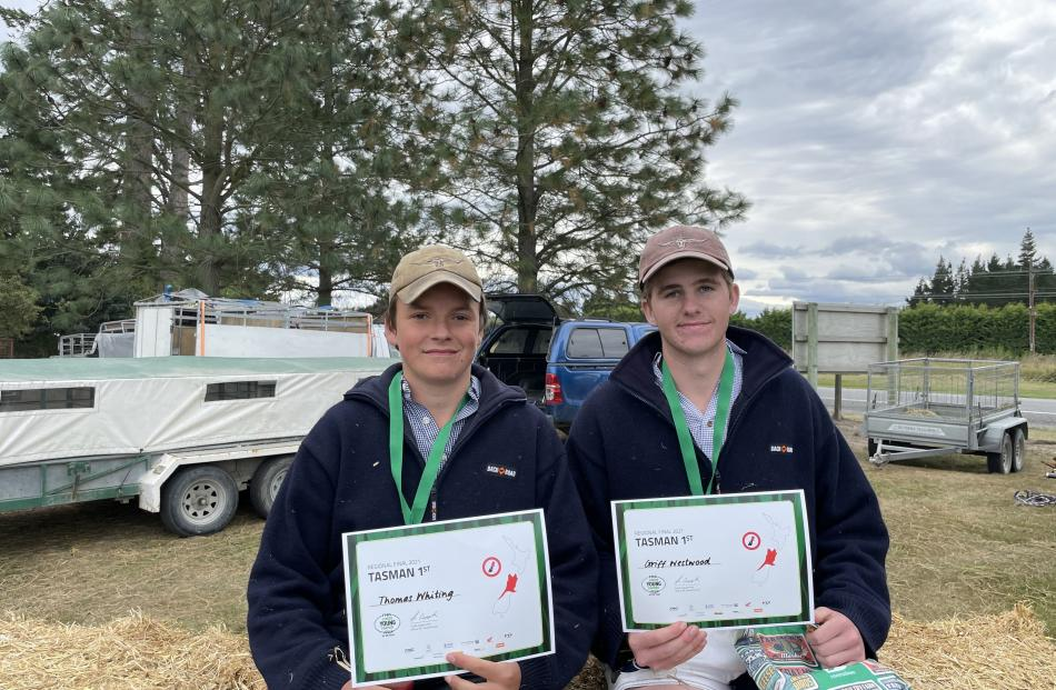 St Bede's College, Christchurch, pupils Thomas Whiting (left) and Griff Westwood won top honours...
