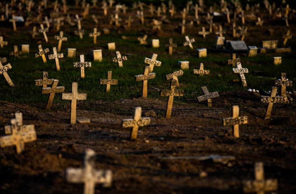 The Caju cemetery in Rio de Janeiro is filled with Covid-19 victims as the official death toll...